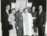 Youngs, Pepperdines, and Hahns at college event, ca. 1960