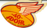 - 40- Adohr Flying Football Tournament sticker